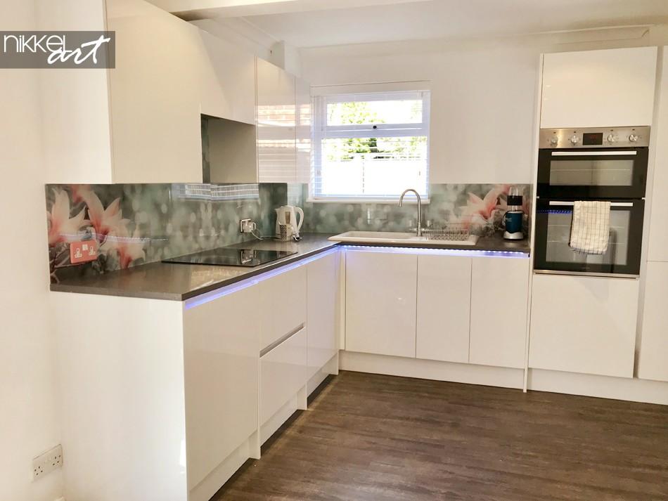 Klantfoto Plexiglazen Keuken Achterwand Magnolia