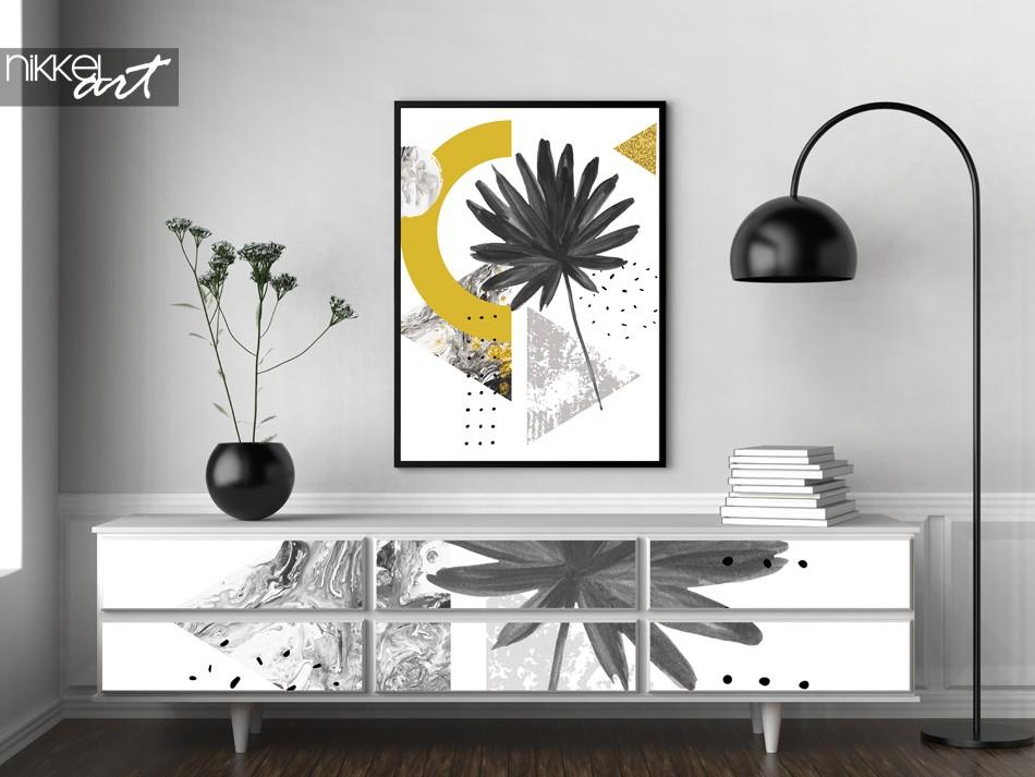 Meubelsticker en Poster met Foto van Grafische Print