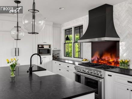 Glazen Keuken Achterwand Gloeiende Kolen