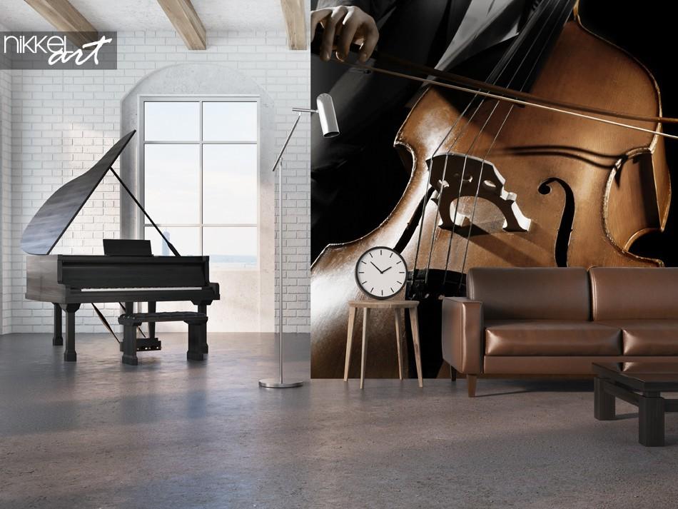 Studio met Fotobehang Muziek Instrument