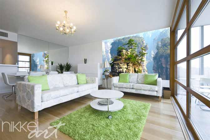 Fotobehang voor woonkamer for Kleuren huiskamer