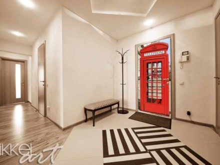 London deursticker met mat laminaat