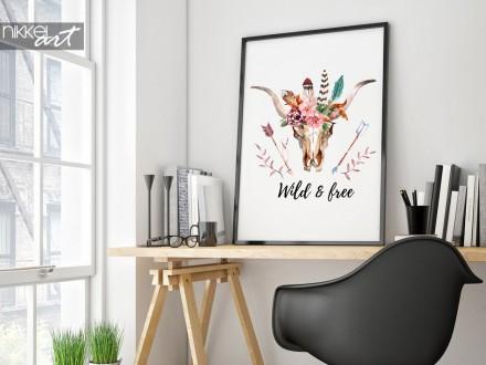 Poster Boho Chic - Wild & free