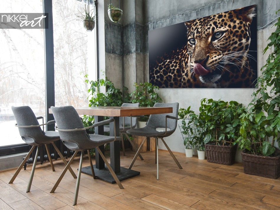 Serre met Foto Luipaard op Plexiglas