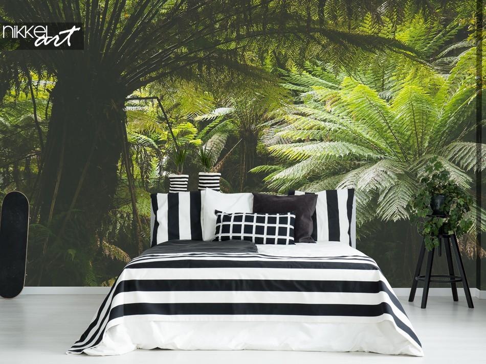Slaapkamer me Fotobehang Jungle