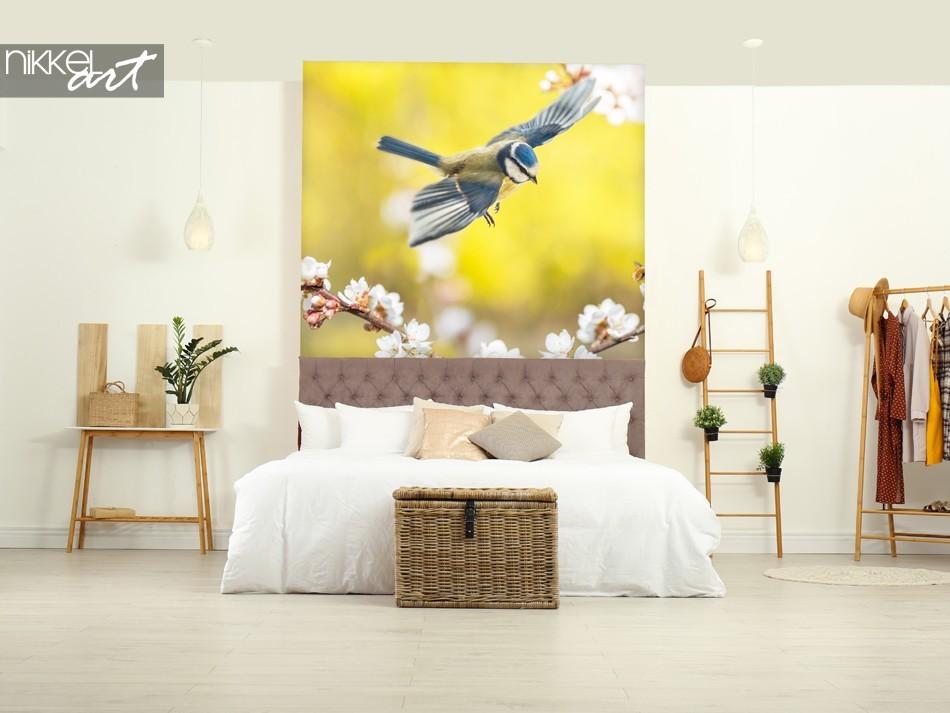 Slaapkamer met Muursticker Vogel