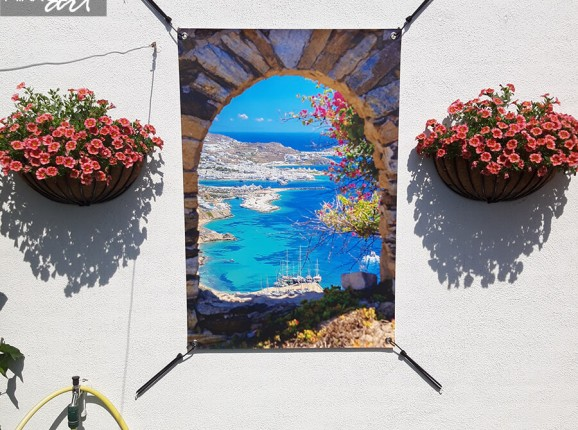 Tuinposter Mykonos