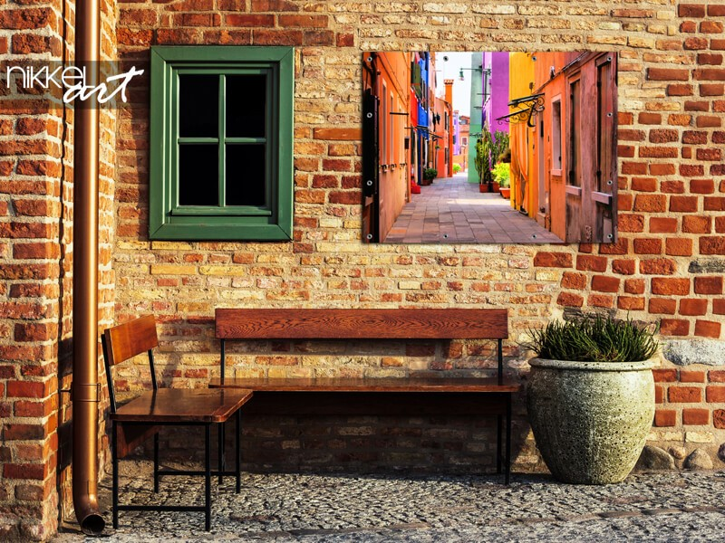 Steegje Italie op tuinposter