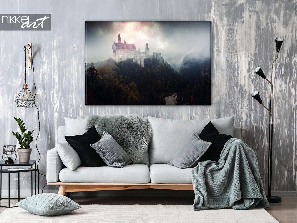 Slot Neuschwanstein op Canvas