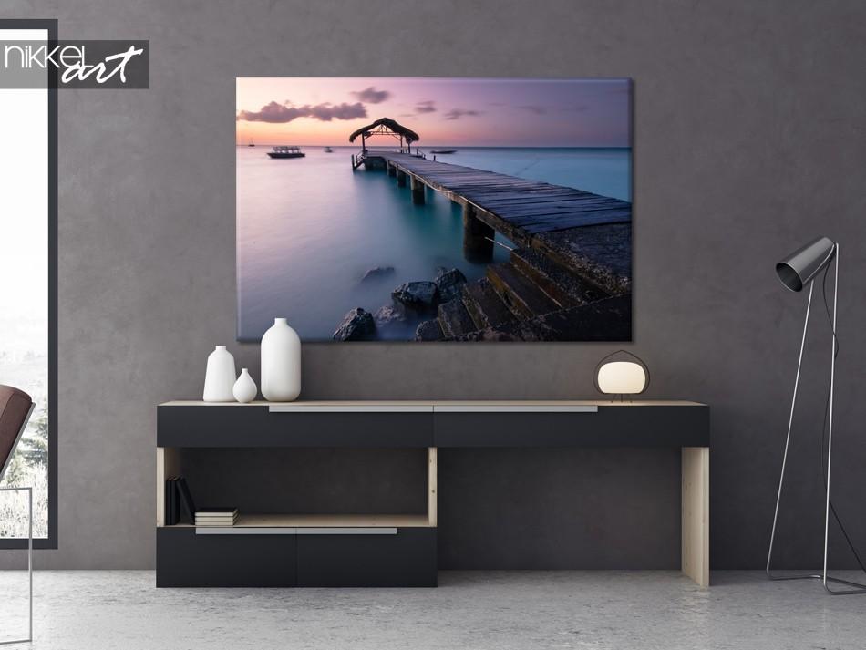Woonkamer met Foto op Canvas Pigeon Point