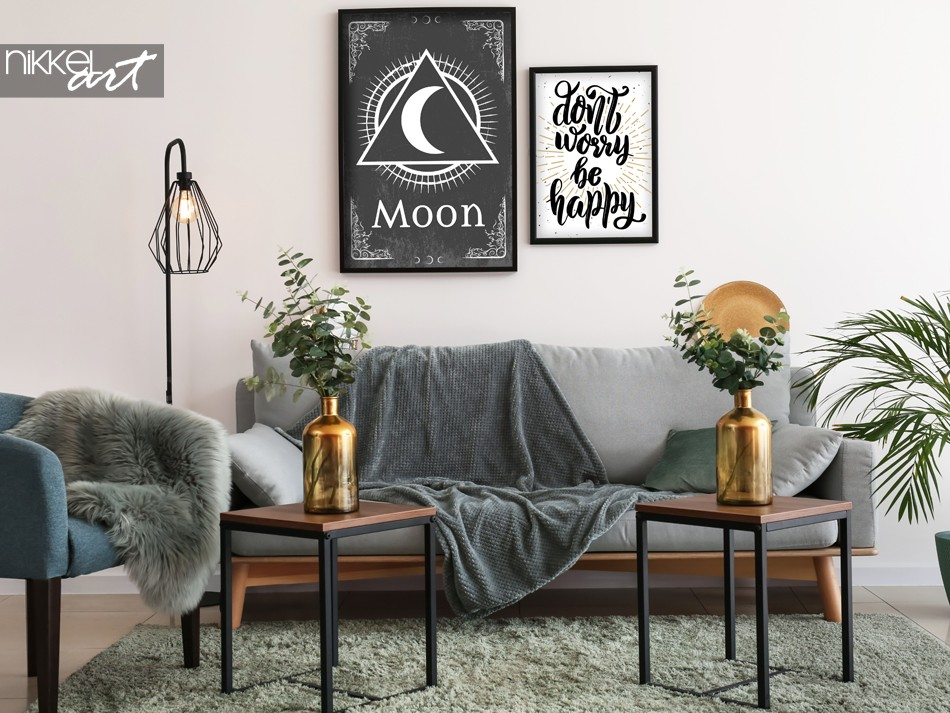 Woonkamer met Poster Retro Sign