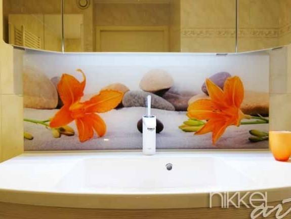 Foto Plexiglas Badkamer : Foto op plexiglas als achterwand in de badkamer