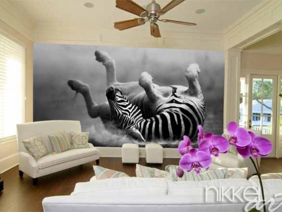 Fotobehang bos in de slaapkamer
