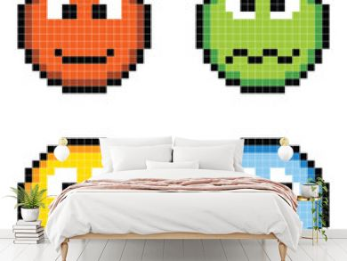 Pixel Emotion Icons - Angry, Sick, Happy, Sad
