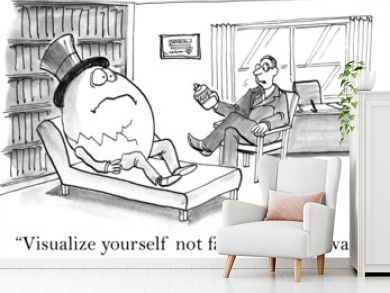 Visualize yourself not falling off the wall