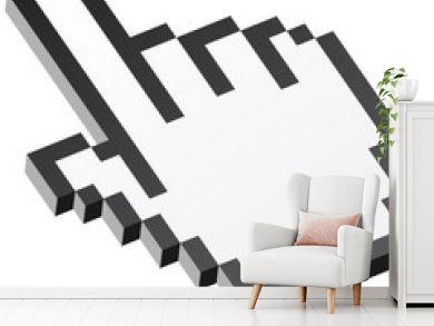 3D Pixelgrafik Hand - Zeigefinger