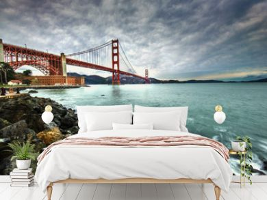 Golden Gate Bridge after raining