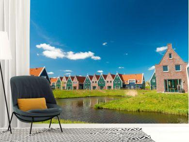 Classic homes of Volendam, Netherlands
