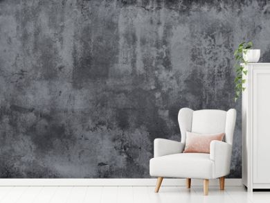 Dark grunge concrete texture wall