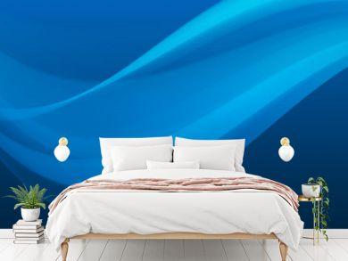 Blue wave background on dark gradient, abstract wallpaper