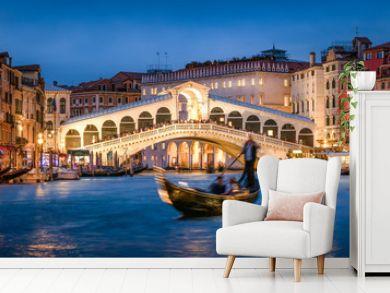 Rialtobrücke in Venedig, Italien