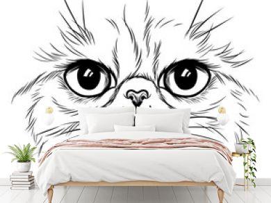 Exotic cat face illustration