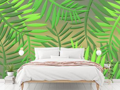 tropical jungle with dense vegetation leaves
