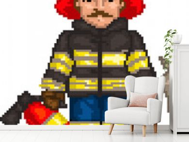 PixelArt: Firefighter