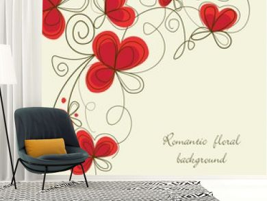 Romantic floral corner