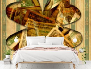 Retroplakat - Dollarkleeblatt