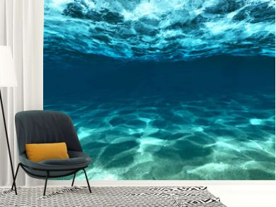 Surface of sand under water