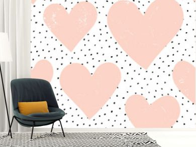 Hearts and Dots Pattern