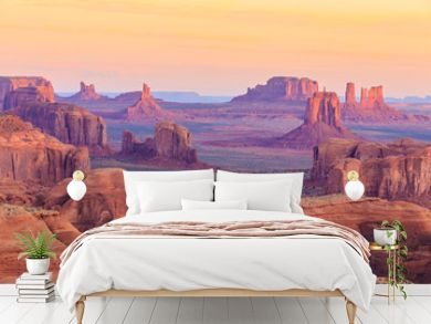 Sunrise in Hunts Mesa in Monument Valley, Arizona, USA