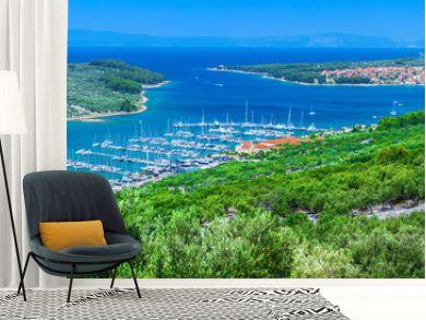 Wonderful romantic summer afternoon landscape panorama coastline