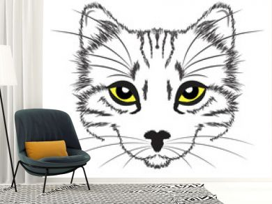 line drawing cat
