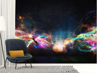 Modern abstract motion banner on dark background