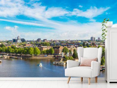 Panoramic view of Amsterdam