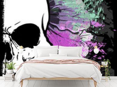 Skull Watercolor T shirt Graphic Design