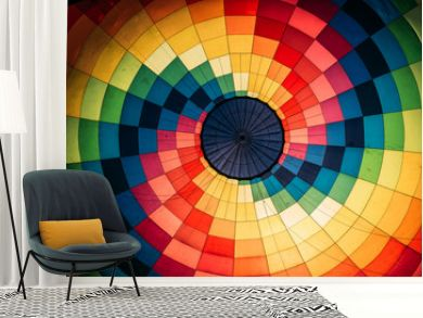 Abstract background, inside colorful hot air balloon