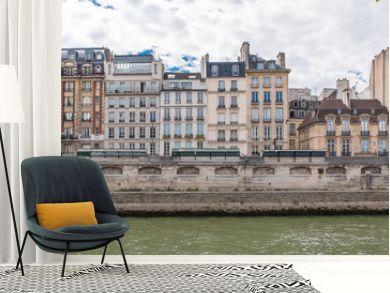 Paris, beautiful houses on the banks, quai des Grands-Augustins