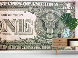 Dollar bill, close up view
