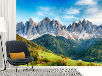 Beautiful landscape of Italian dolomites - Santa maddalena