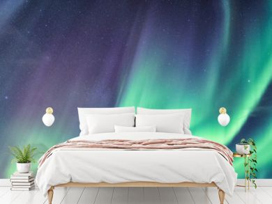Northern lights, Aurora borealis with starry in the night sky