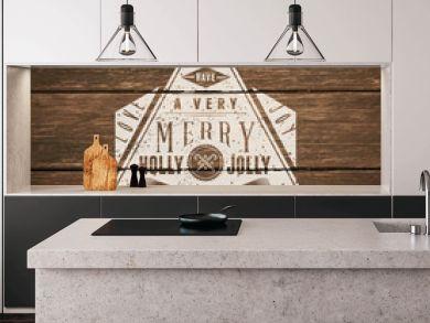Vintage typography sign over wooden background