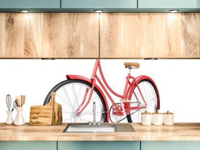 red bicycle vintage