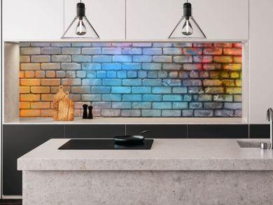 Colorful brick wall texture