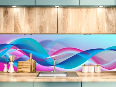 Beautiful abstract wave with blur, banne