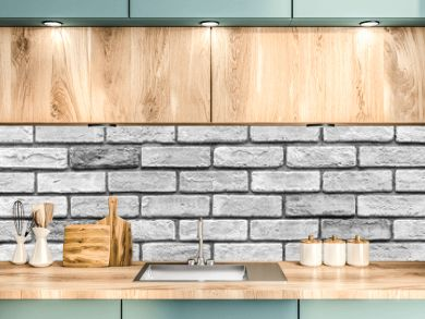 Vintage old white brick wall texture and seamless background.