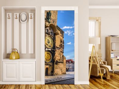 Prague old town square and Astronomical Clock Tower, Prague, Cze
