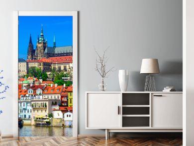 Mala Strana (Lesser Town of Prague) and Prague Castle. Prague, Czech Republic